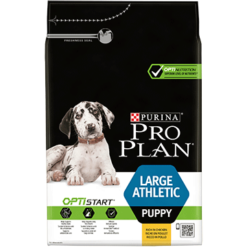 ​PURINA® PRO PLAN® Large Athletic Puppy с OPTISTART®, богата на пиле