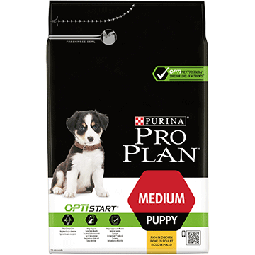 ​PURINA® PRO PLAN® Medium Puppy с OPTISTART®, богата на пиле