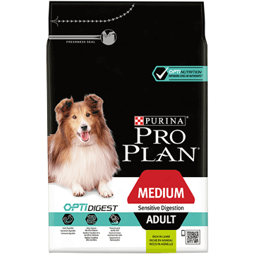 ​PURINA® PRO PLAN® Medium Adult Sensitive Digestion с OPTIDIGEST®, богата на Пиле